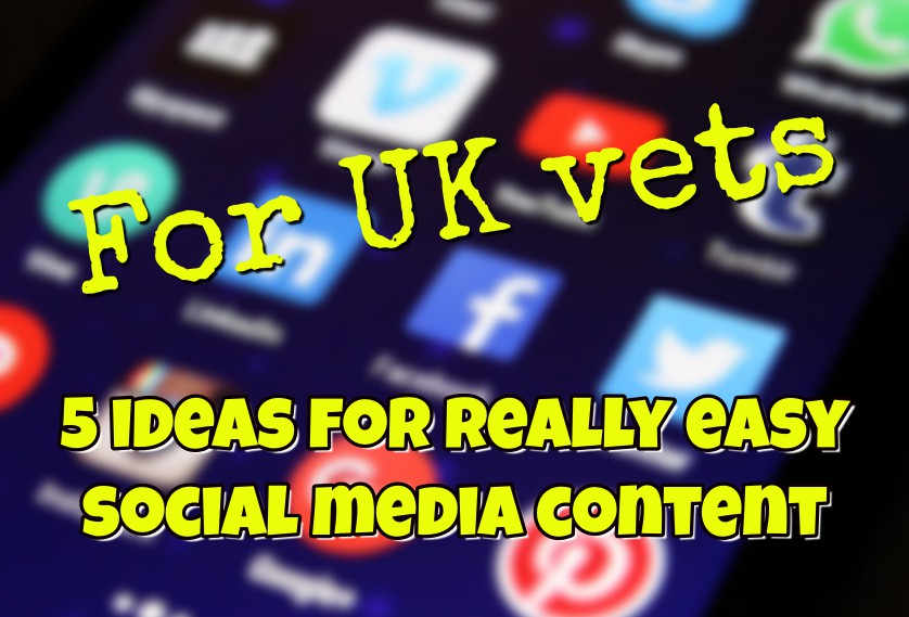 For UK vets: 5 ideas for really easy social media content